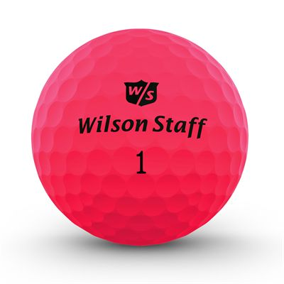 Wilson Staff DX2 Optix Golf Balls - 1 Dozen - Pink