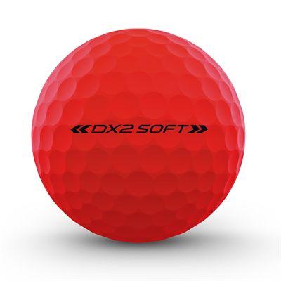 Wilson Staff DX2 Optix Golf Balls - 1 Dozen - Red - Back