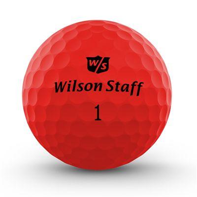 Wilson Staff DX2 Optix Golf Balls - 1 Dozen - Red
