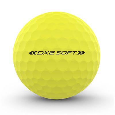 Wilson Staff DX2 Optix Golf Balls - 1 Dozen - Yellow - Back