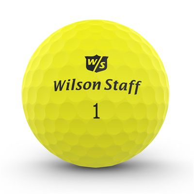 Wilson Staff DX2 Optix Golf Balls - 1 Dozen - Yellow