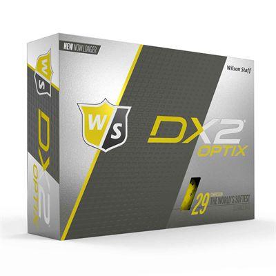 Wilson Staff DX2 Optix Golf Balls - 1 Dozen