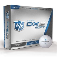 Wilson Staff DX2 Soft Ladies Golf Balls - 1 Dozen