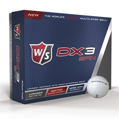 Wilson Staff DX3 Spin Golf Balls - 1 Dozen