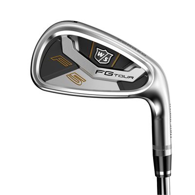 Wilson Staff FG Tour F5 Steel 5-PW Golf Iron Set - Flat