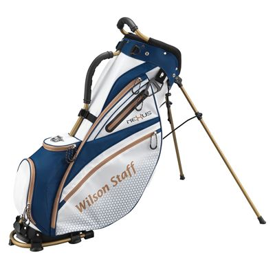 Wilson Staff Nexus Golf Carry Bag-White-Blue-Gold