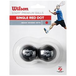 Wilson Staff Red Dot Squash Balls - Pack of 2