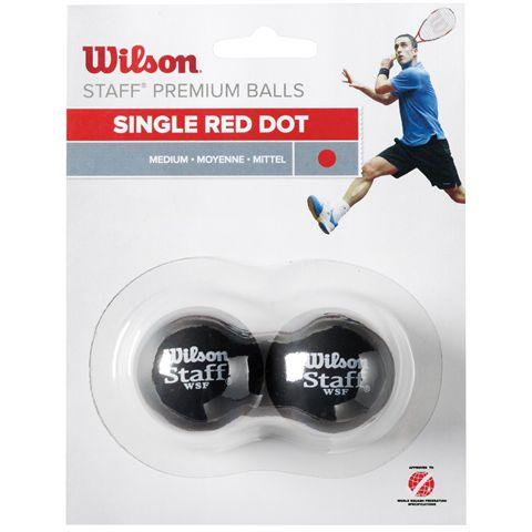Wilson Staff Red Dot Squash Balls - Pack of 2