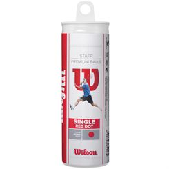 Wilson Staff Red Dot Squash Balls - Tube of 3
