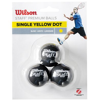 Wilson Staff Squash Balls - Pack of 3