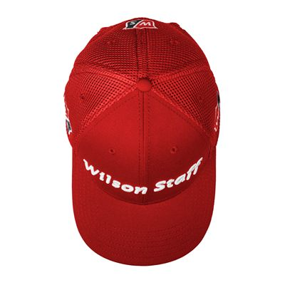 Wilson Staff Tour Mesh Cap 2017 - Red - Above