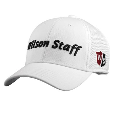 Wilson Staff Tour Mesh Cap-White-Front