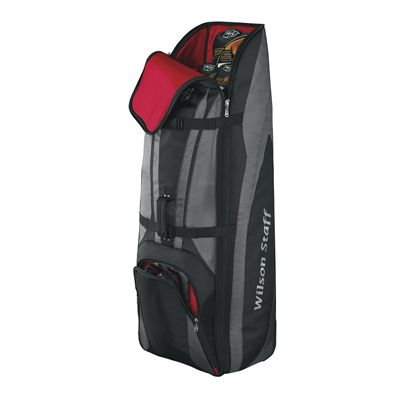 Wilson Staff Wheeled Golf Travel Cover-open