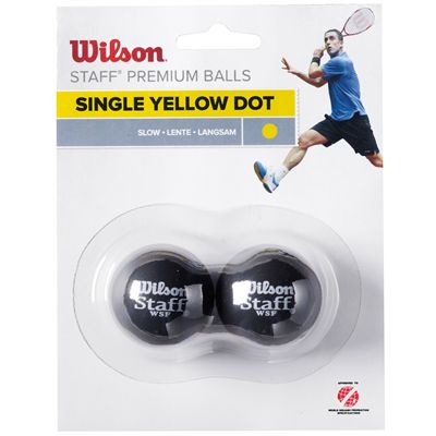 Wilson Staff Yellow Dot Squash Balls - Pack of 2