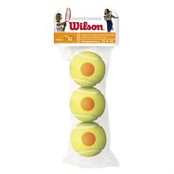 Wilson Starter Orange Mini Tennis Balls - Pack of 3
