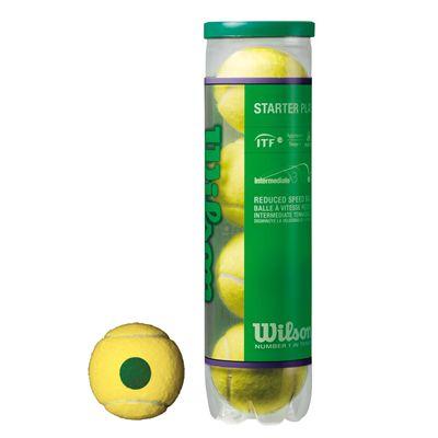 Wilson Starter Play Green Tenis Balls - Tube of 4