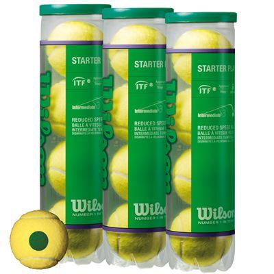 Wilson Starter Play Green Tennis Balls - 1 Dozen Image