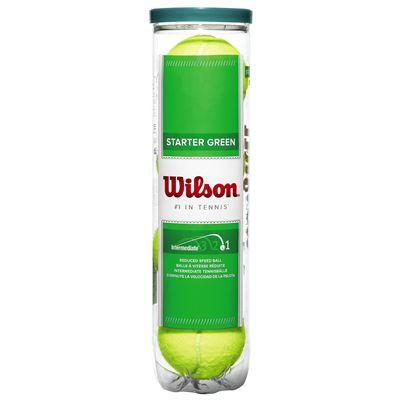 Wilson Starter Play Green Tennis Balls - Tube of 4 - Tube