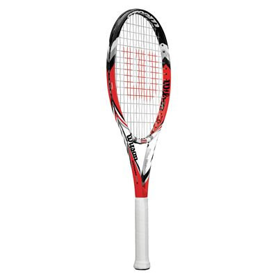 Wilson Steam 105 S Tennis Racket - Angle view