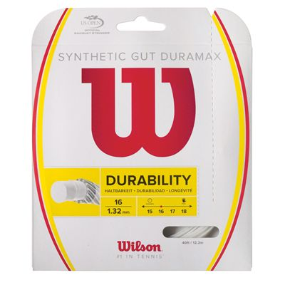 Wilson Synthetic Gut Duramax 16 Tennis String Set