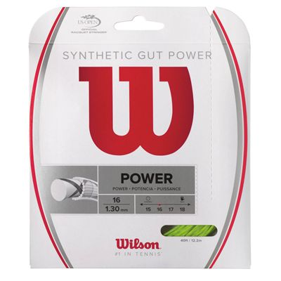Wilson Synthetic Gut Power 16 LI Tennis String Set