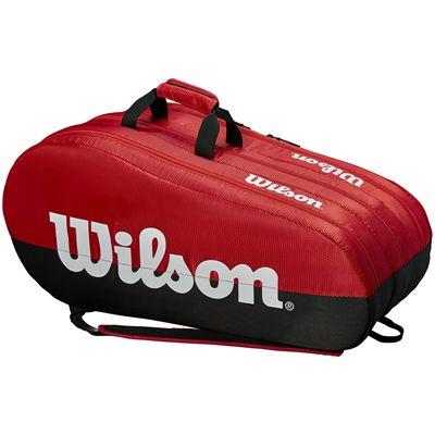 Wilson Team 15 Racket Bag - Red - Side
