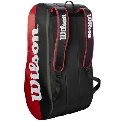 Wilson Team 15 Racket Bag - Red - Staying