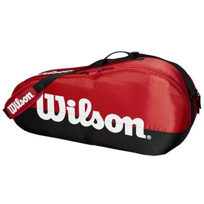 Wilson Team 3 Racket Bag - Red - Side