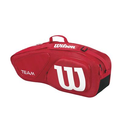Wilson Team II 3 Racket Bag - Red/Side