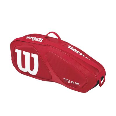 Wilson Team II 3 Racket Bag - Red