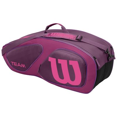 Wilson Team II 6 Racket Bag-Purple-Back