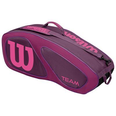 Wilson Team II 6 Racket Bag-Purple-Front