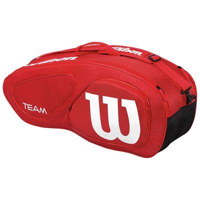 Wilson Team II 6 Racket Bag-Red-Back