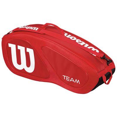 Wilson Team II 6 Racket Bag-Red-Front