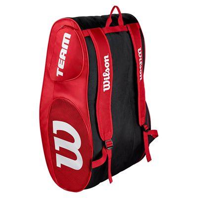 Wilson Team III 12 Racket Bag - Black - Green - Red - Back