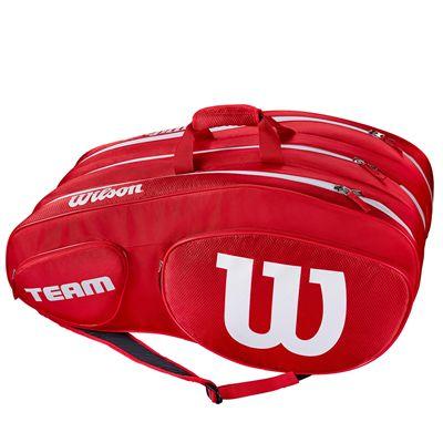 Wilson Team III 12 Racket Bag - Black - Green - Red - Side