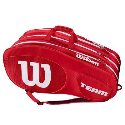 Wilson Team III 12 Racket Bag - Black - Green - Red