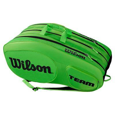 Wilson Team III 12 Racket Bag - Black - Green