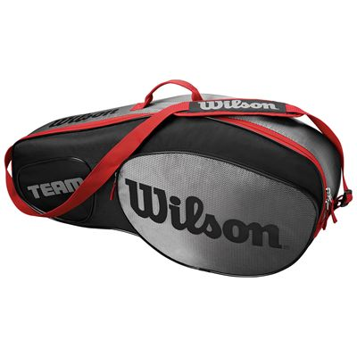 Wilson Team III 3 Racket Bag - Black - Side