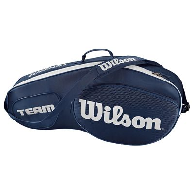 Wilson Team III 3 Racket Bag - Blue - Side