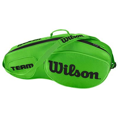 Wilson Team III 3 Racket Bag  - Green - Side