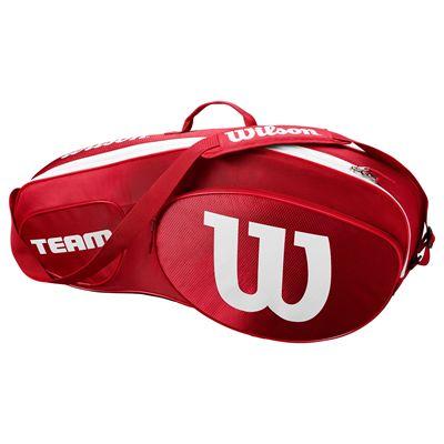 Wilson Team III 3 Racket Bag  - Red - Side