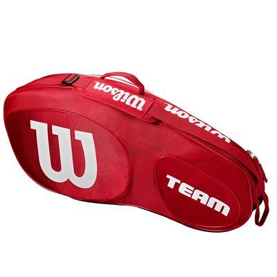 Wilson Team III 3 Racket Bag  - Red