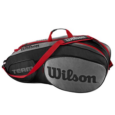 Wilson Team III 6 Racket Bag - Black - Side