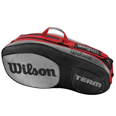 Wilson Team III 6 Racket Bag - Black