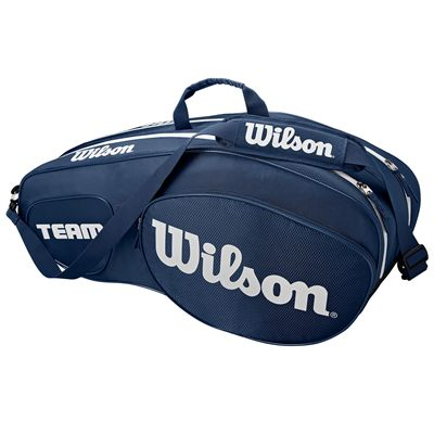 Wilson Team III 6 Racket Bag - Blue - Side
