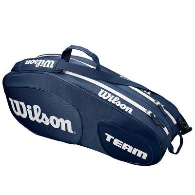 Wilson Team III 6 Racket Bag - Blue