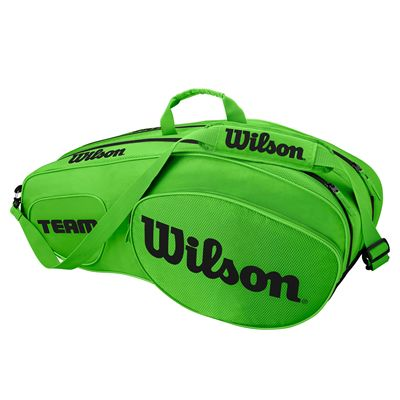 Wilson Team III 6 Racket Bag - Green - Side