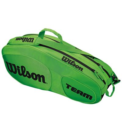 Wilson Team III 6 Racket Bag - Green