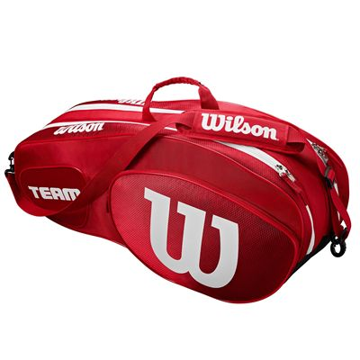 Wilson Team III 6 Racket Bag - Red - Side